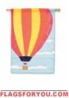 Applique Hot Air Balloon House Flag - 1 left
