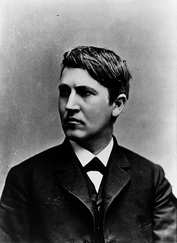 """""""Be courageous! Whatever setbacks America has encountered, it has always emerged as a stronger and more prosperous nation…. Be brave as your fathers before you. Have faith and go forward!"""" -- Thomas Edison"""