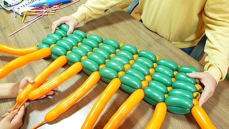 Беседы о воздушных шарах. №9: Плетение сдвоенными пузырями