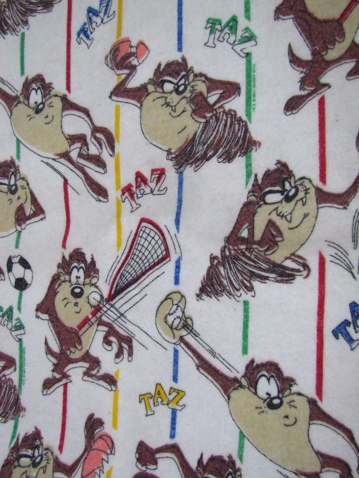 TAZ TASMANIAN DEVIL LOONEY TUNES Blanket RARE VINTAGE Space Jam Sports Toddler | Collectibles, Animation Art & Characters, Animation Characters | eBay!