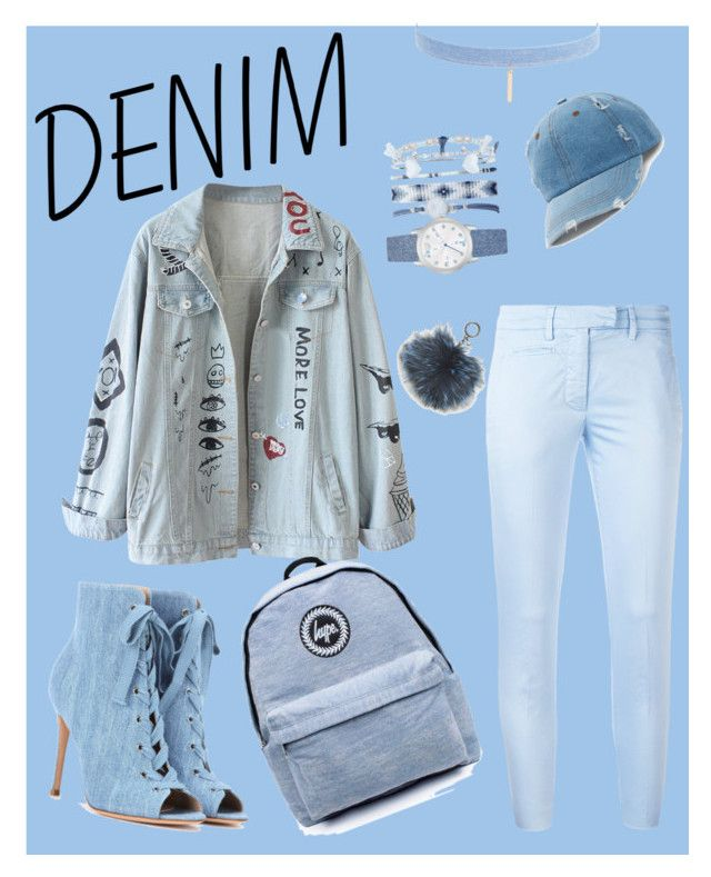 """""""Head-to-toe Denim"""" by dedecast ❤ liked on Polyvore featuring Gianvito Rossi, Dondup, Topshop, Jules Smith, A.X.N.Y., Mudd and Michael Kors"""