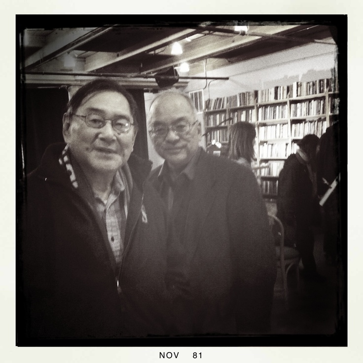 A fellow bookseller from Pioneer Square, shortly before his death. Posing with him is a writer/filmmaker and friend.