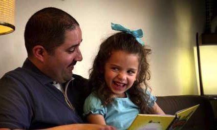 Reading to kids!