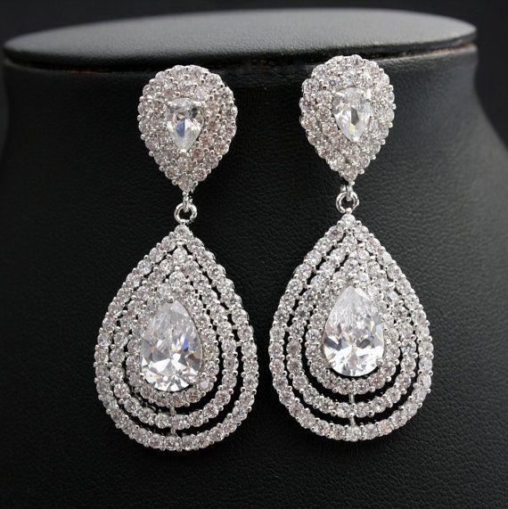 17 best ClipOn Wedding Bridal Earrings images on Pinterest Bridal