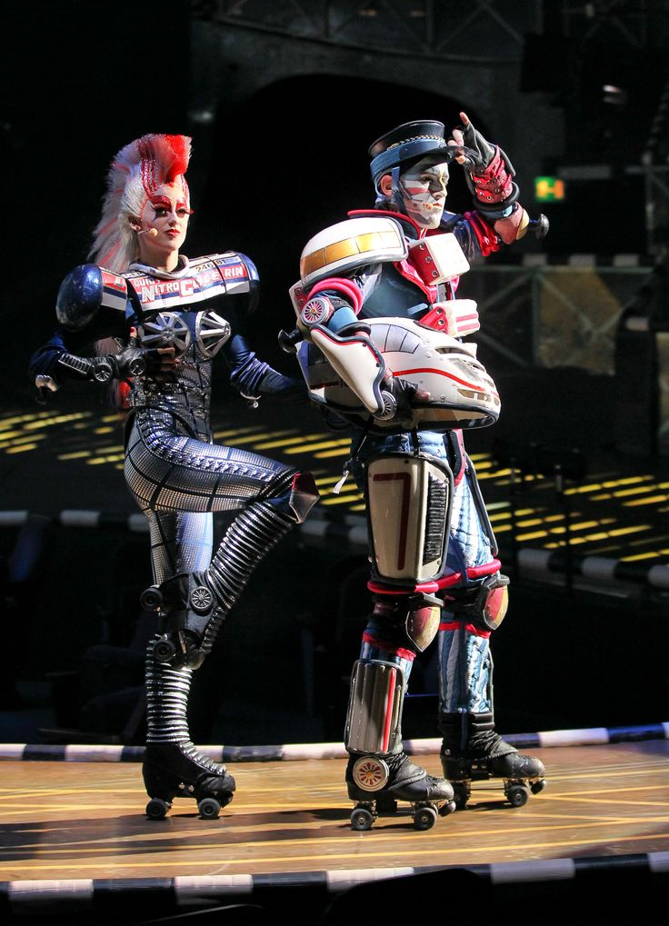 Ruhrgold and Joule. View images from the German-language production of Starlight Express, at the Starlighthalle in Bochum, Germany. Photo: Jens Hauer.