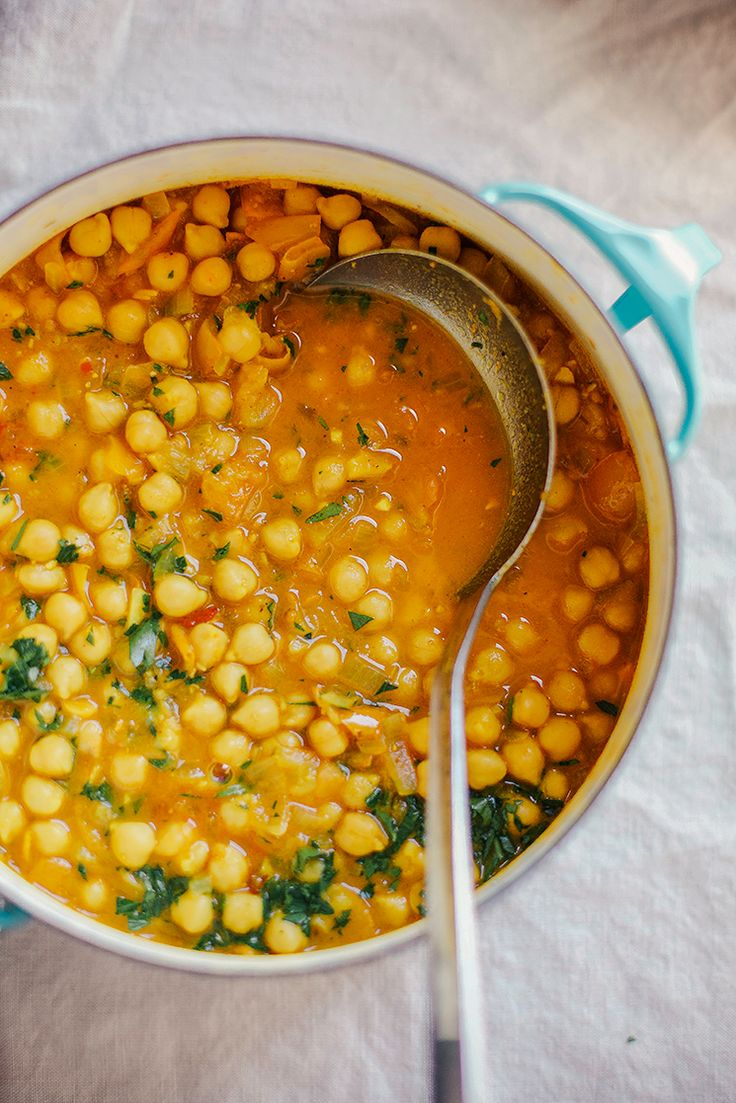 Golden Chana Masala with glorious spices (but not too hot) - Saute in broth for Phase 1, or use raw coconut oil and serve with quinoa for Phase 3. (Serves 5.)