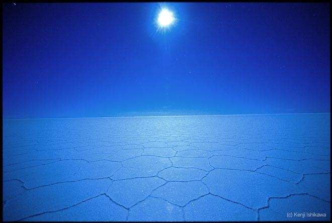 石川賢治「月光浴」 Moonlight Blue