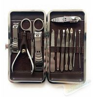 schoonheid make-up 12 stuks nagels kunst maricure set nagelknipper nagel tools salon express schaar pincel de unha voor manicure pedicure