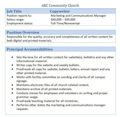34 best Church Administrator images on Pinterest Job description - job description