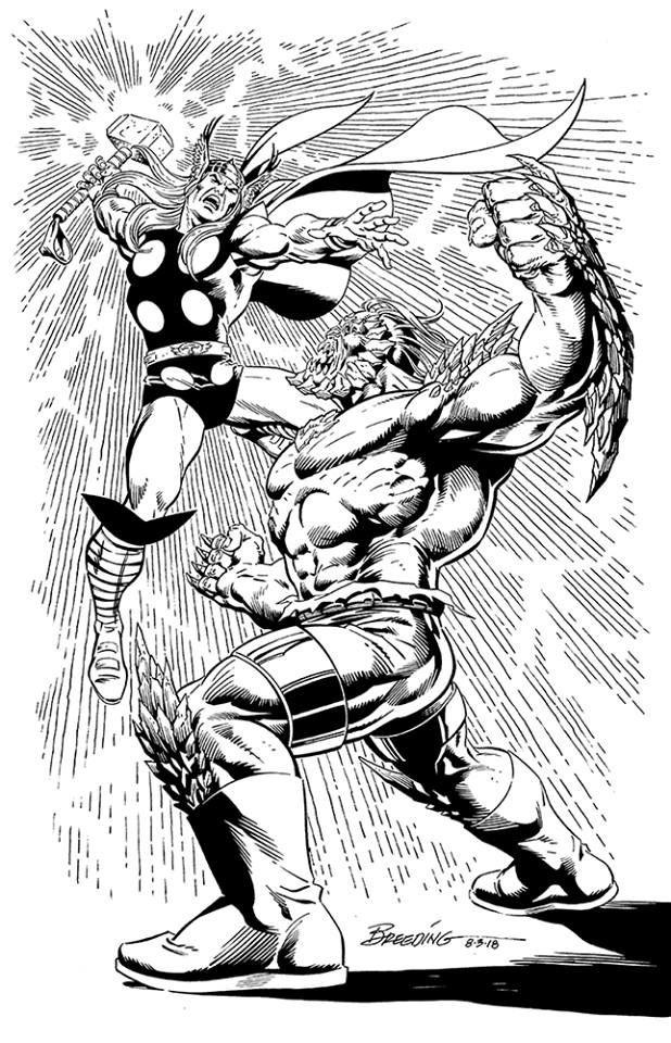 Thor Vs Doomsday By Brett Breeding Brettbreeding Doomsday
