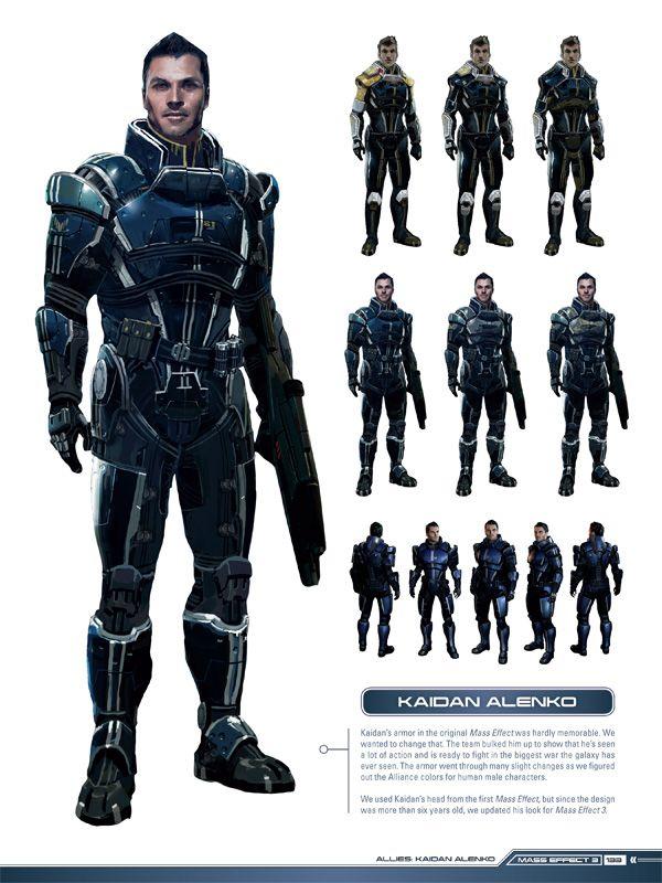 Mass Effect Concept Art - Kaidan Alenko