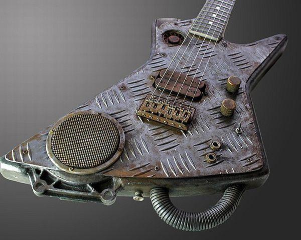 Steampunk/ Cyberpunk guitar for all the Rockstars | Designbuzz ...