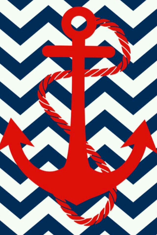 Red and blue anchor