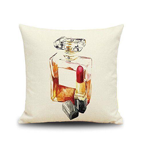 Kissenbezug Dekorative Kissen Mode Parfüm Flasche Gedruckt Kissenbezug 45X45Cm …