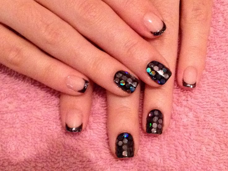 Black caviar nail design! E.L. Nails