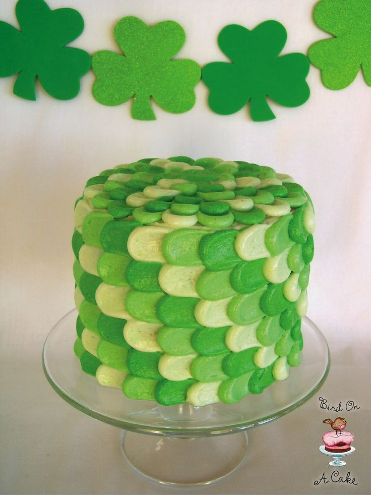 St. Patrick's Day Green Petal Cake