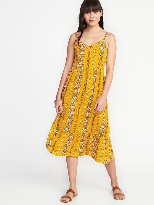 88068eb4809f Fit & Flare Cami Midi Dress for Women   fashion   Dresses, Cami midi ...
