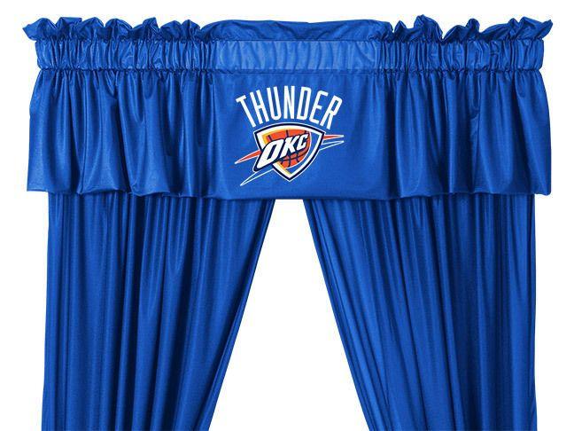 Oklahoma City Thunders NBA Window Curtain  Valance and Drapes Set #SportsCoverage
