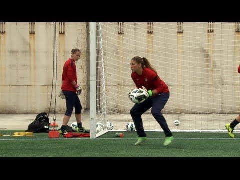 VIDEO: Goalkeepers in training. Hope Solo, Jill Loyden, Nicole Barnhart. (U.S. Soccer)