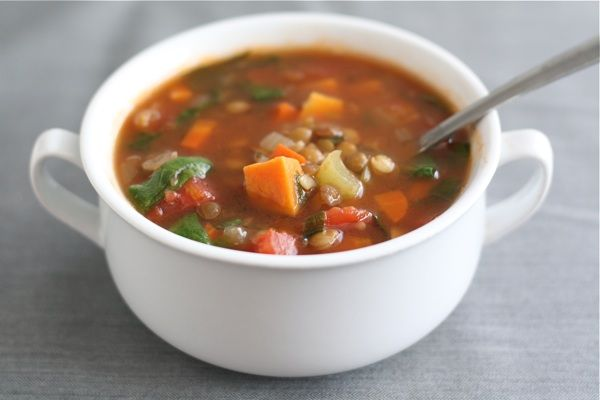 Lentil, Spinach and Sweet Potato Soup: Soups, Lentil Soup, Sweets, Food, Gluten Free Dinner, Sweet Potatoes, Favorite Recipes, Lentil Sweet Potato Soup, Lentils
