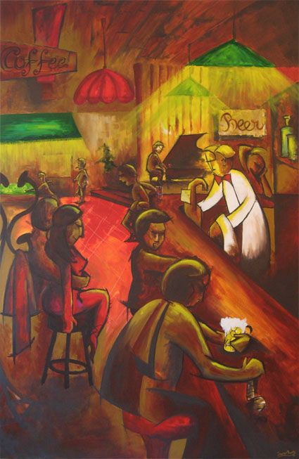 """Mil y una historias"" | 150 x 100 cm Acrylic on canvas (2009) Javier Pavón #art #arte #acrylic #painting #jpavón"