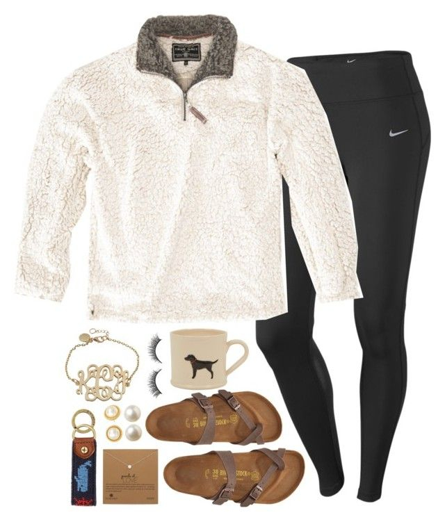 """I LOVE HEB SOOO MUCH"" by conleighh ❤ liked on Polyvore featuring NIKE, True Grit, Rimini, Birkenstock, Dogeared, Banana Republic, Kate Spade and C. Wonder"