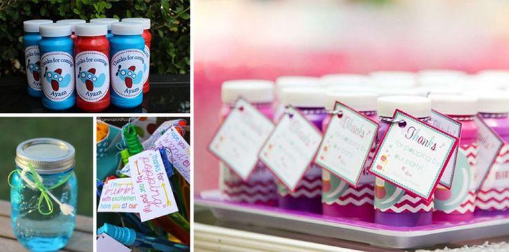 regali di ringraziamento festa bolle di sapone