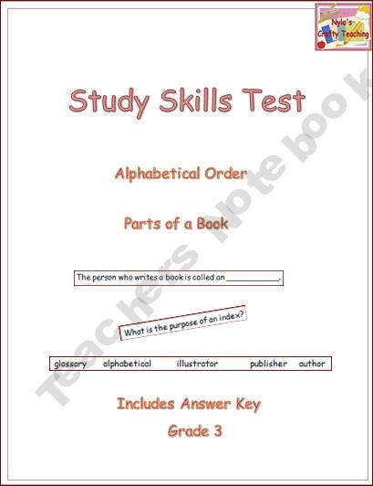 Study Skills TestTeachersnotebook Com, Study Skills, Teachers Notebooks, Products