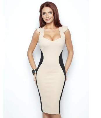 Amy Childs Marcia Contrast Dress  £65.00    New Amy Childs Collection. For a figure flattering style, this silhouette bodycon style is perfect for day or night. Features contrast side panels and cap sleeve detail.