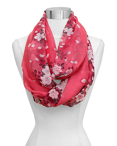 Maggie Infinity Scarf in Cherry