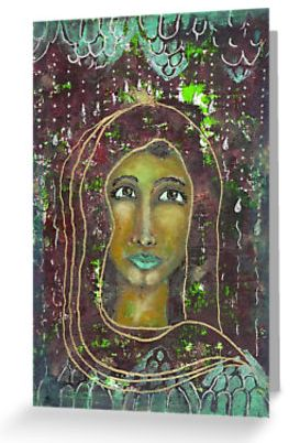 Sarah ~ Greeting cards available here: http://www.redbubble.com/people/elizafayle/works/13490384-goddess-sarah?p=greeting-card #goddess #spiritual #feminine #divine