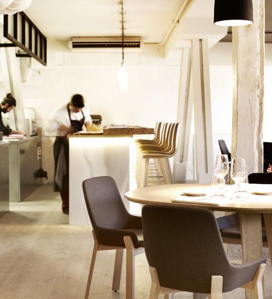 Jean Louis Iratzoki's Koila chairs in the Mina restaurant in Bilbao