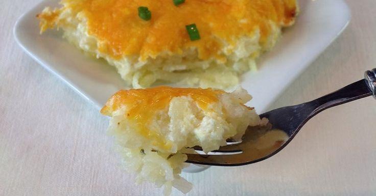 Запеканка с картофелем и отварной курицей