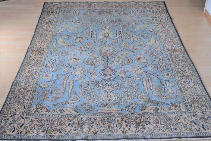 Perzisch tapijt Qom/Ghum 1950-1970-wol en zijde op katoen-ca:205x135cm