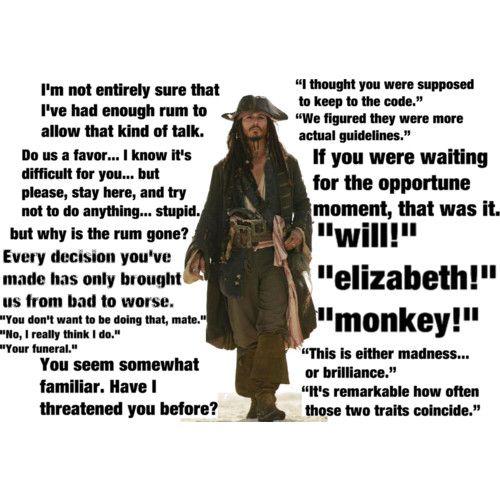 Jack Sparrow Quotes: 17 Best Jack Sparrow Quotes On Pinterest