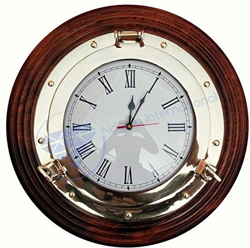 Premium Nautical Porthole Brass Time's Clock On Solid Woo... https://www.amazon.com/dp/B01J025QZM/ref=cm_sw_r_pi_dp_cUpLxbKT6JA5W