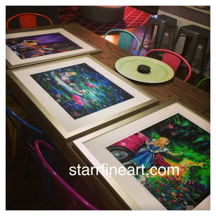 ALICE PRINTS Framed up beautifully and set in a wonderfully modern interior with pops of colour ....www.starrfineart.com