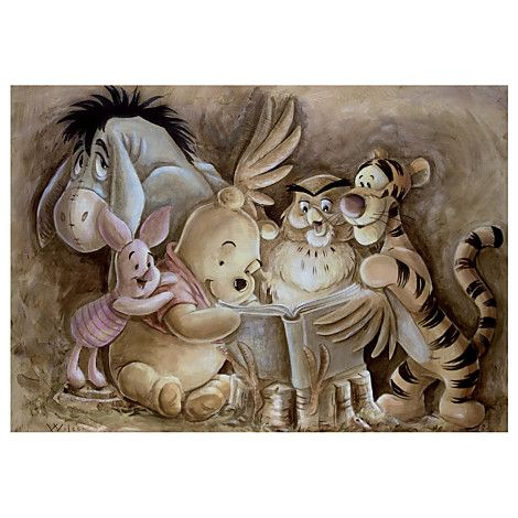 ''Pooh and Company'' Winnie the Pooh Giclée by Darren Wilson. This would be great for my baby's room (when I have a boy, because I'm planning on it being Pooh themed!)