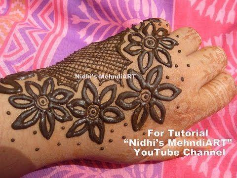 cool Thick 6 Petaled Flowery Arabic Henna Mehndi Design Tutorial by http://www.dezdemon-fashion-trends.xyz/latest-fashion-trends/thick-6-petaled-flowery-arabic-henna-mehndi-design-tutorial/