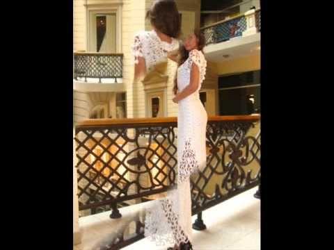 Вязаные платья. Свадебные вязаные крючком платья от Любы Сергеевой. Croc...