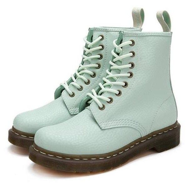 Pastel Lace Up Boots ($90) ❤ liked on Polyvore featuring shoes, boots, ankle booties, leather shoes, front lace up boots, laced up boots, genuine leather shoes and lace-up boots