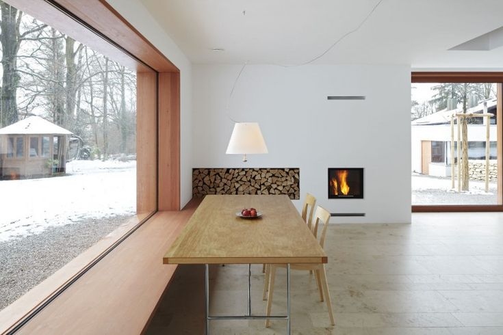 Could you design a wood pile like this so that you could top it up from outside every day?
