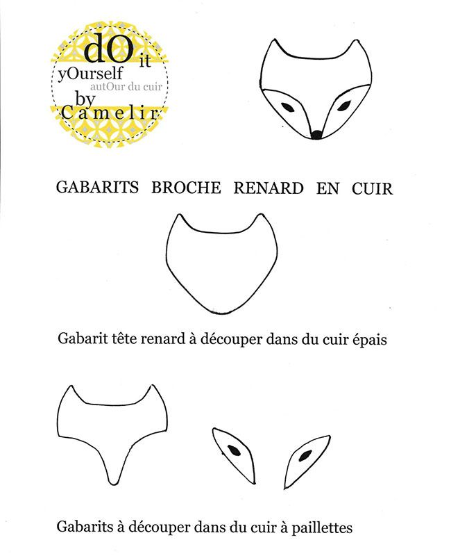 DIY broche renard