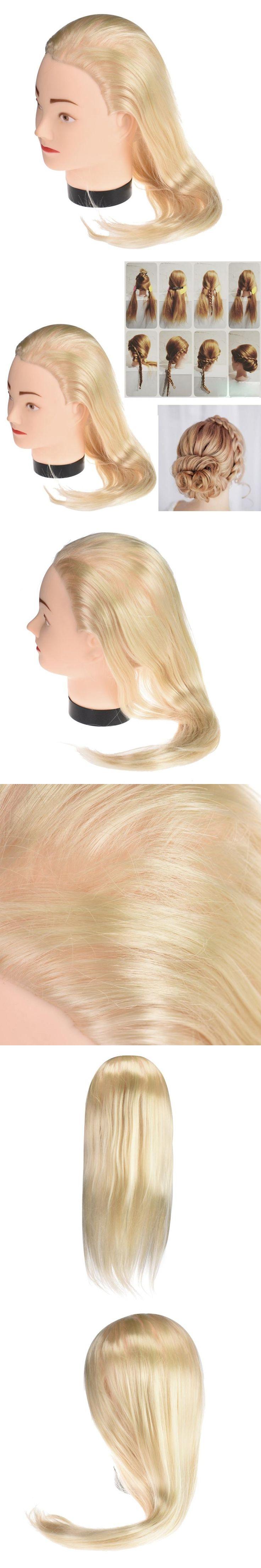 New Female Dummy Head Long Hair Hairdressing Training Head Model Oct 28