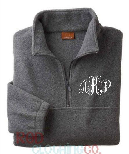 Gift?  Etsy listing at http://www.etsy.com/listing/163832772/sale-monogrammed-quarter-zip-pullover