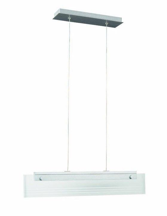 Elegante LED Pendelleuchte Fresnel aus hochwertigen Material Aluminium und Glas. Höhenverstellbar und dimmbar