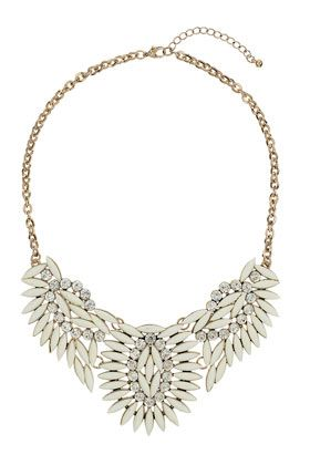 Cream Stone Collar - New In This Week - New In