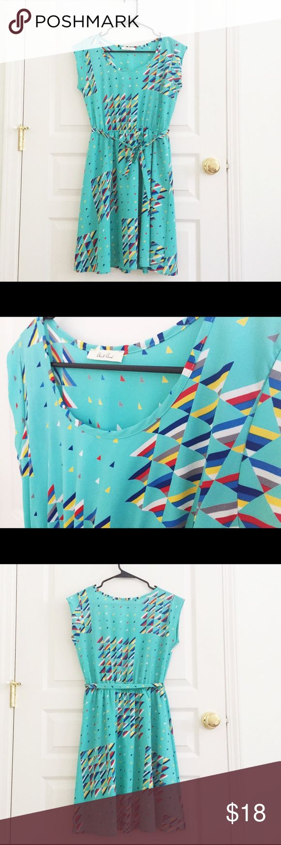 Selling this Teal geometric triangle dress hipster indie on Poshmark! My username is: wanderlust83. #shopmycloset #poshmark #fashion #shopping #style #forsale #Black Bead #Dresses & Skirts