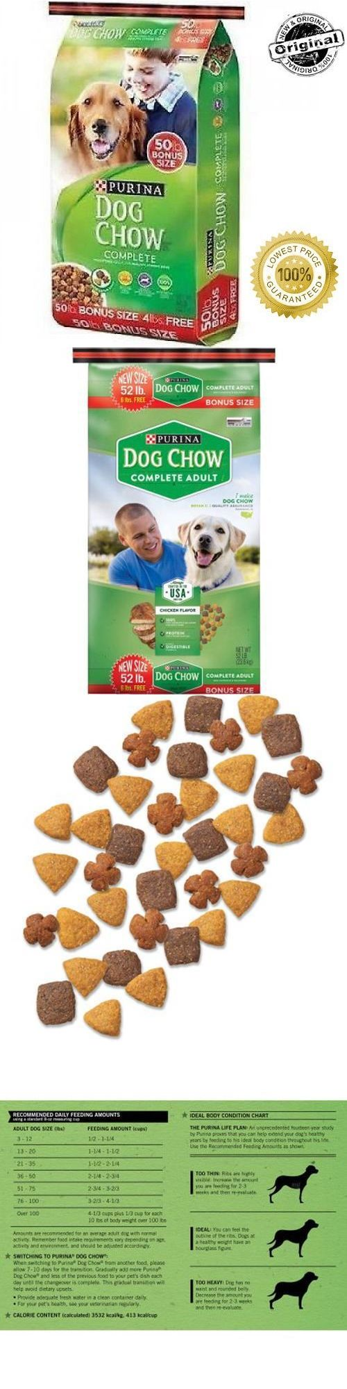 Dog Food 66780: Purina Dog Chow Complete Dry Food Kibble 52 Lb. High Quality Protein Bulk Bag -> BUY IT NOW ONLY: $35.95 on eBay!