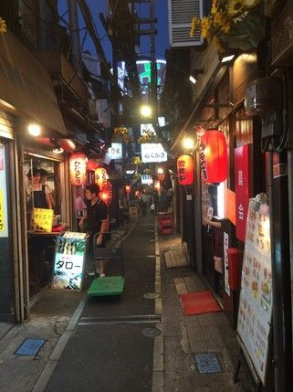 Here is an interesting back alley called Omoide Yokocho in the heart of Shinjuku. As you walk by, you will find yourself going back to the good old Showa times in Japan where you will be greeted by rows of small Yakitori and ramen shops and bars under the traditional chochin lanterns.  There are many shops with tiny entrance doors that fit no more than 10 people but once you get the seats, you will be greeted to have the delicious skew of Yakitoris that would never go wrong.